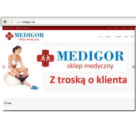 Strona firmowa – sklep medyczny Medigor