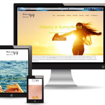 Solarium Bielska – strona internetowa